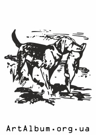Clipart hunter dog (pointer)