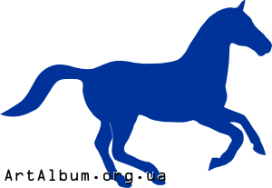 Clipart silhouette of a horse