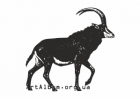 Clipart sable antelope