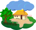 Clipart village homestead