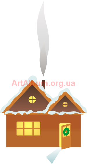 Clipart winter house