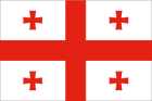 Clipart flag of Georgia
