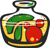 Clipart jar of vegetables