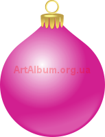 Clipart pink Christmas ball