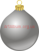 Clipart grey Christmas ball