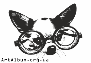 Clipart dog in glasses