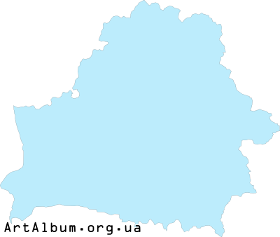 Clipart map of Belarus