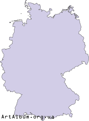 Clipart map of Germany (Deutschland)
