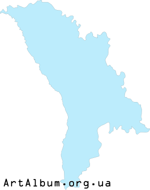 Clipart map of Moldova