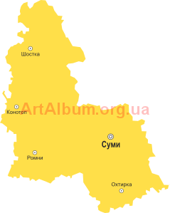 Clipart Sumy region map