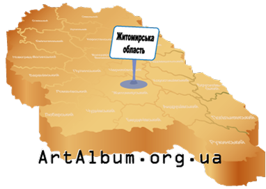 Clipart map of Zhytomyr region