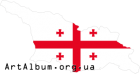 Clipart Georgia map with flag