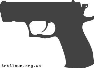 Clipart silhouette of pistol Fort 17