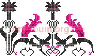 Clipart ornament of Krolevets rushnyk