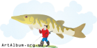 Clipart fisherman with pike