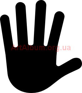 Clipart hand stop sign