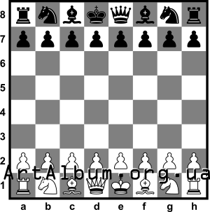 Clipart chessboard with pieces