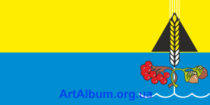 Clipart flag of Dmytrivka