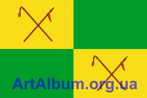 Clipart flag of Mezhova raion