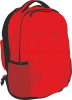 Clipart red backpack