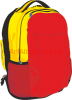 Clipart yellow-red backpack