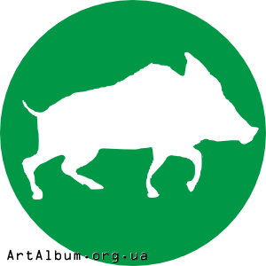 Clipart icon with wild boar