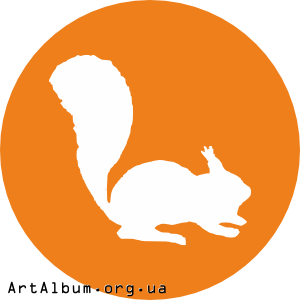 Clipart icon with squirrel