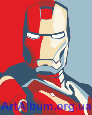 Clipart Iron man print