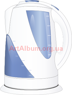 Clipart an electric kettle
