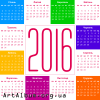 Clipart calendar for 2016 in ukrainian