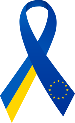 Clipart ribbon Ukraine-Europe