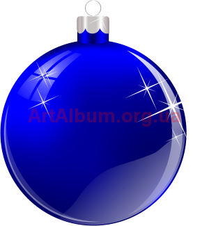 Clipart Christmas ball blue