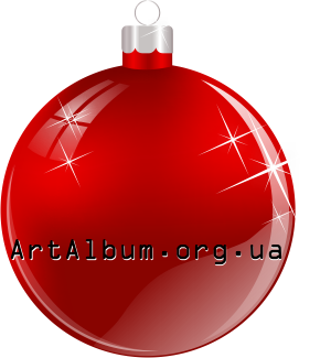 Clipart Christmas ball red