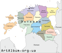 Clipart Estonia map russian