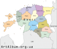 Clipart Estonia (Eesti) map estonian
