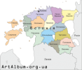 Clipart Estonia map ukrainian