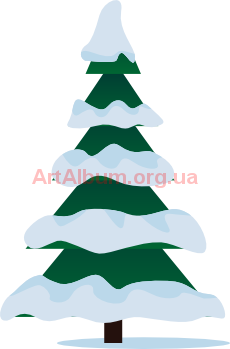Clipart winter spruce