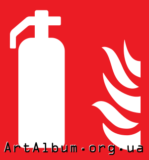 Clipart sign fire extinguisher