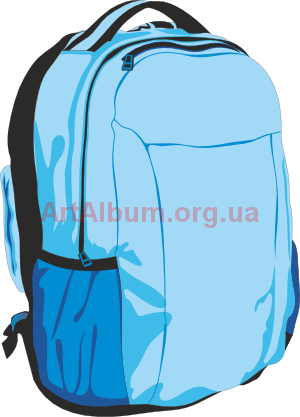 Clipart sky-blue backpack