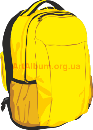 Clipart yellow backpack